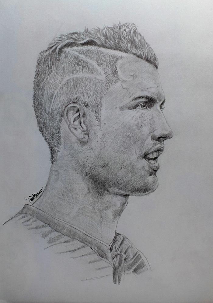 Portrait Of Cristiano Ronaldo By Cipta On Stars Portraits 1